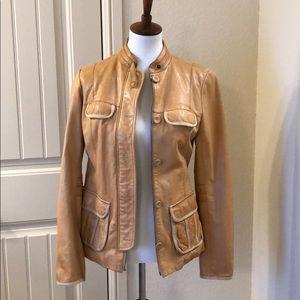 Gap Leather Jacket - size M